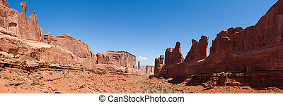Panoramic view of Arches national park in Utah
