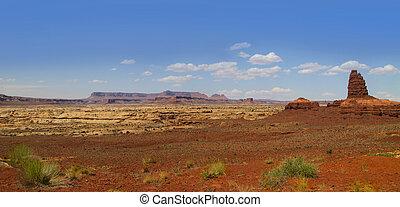Panoramic view of Arizona desert