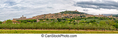 Panoramic view of Assisi, Umbria, Italy