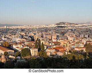 Panoramic view of Athens city