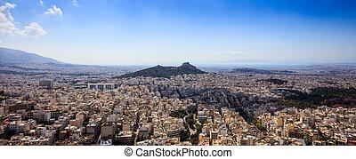 Panoramic view of Athens Greece