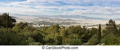 Athens seen from Ymithos Mountain