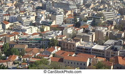 Panoramic view of Athens with Mount Lycabettus, Greece. Zoom...
