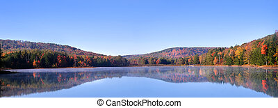 Panoramic View Of Autumn Landscape - Panoramic view of...