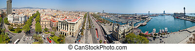 panoramic view of Barcelona from