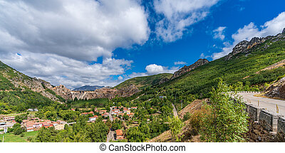 Barrios de Luna dam in Leon, Spain - Panoramic view of ...