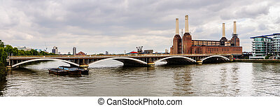 Panoramic view of Battersea power station in London