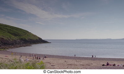 Panoramic View of Beach Landscape, Derbyshire, UK - Wide ...