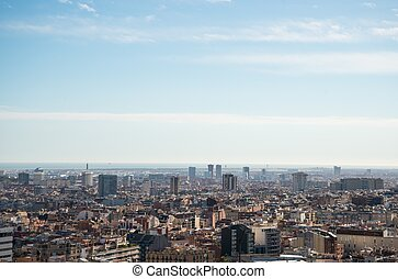 Panoramic view of beautiful Barcelona city