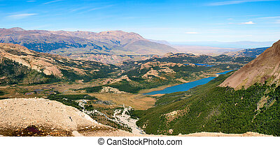 Panoramic view of beautiful landscape in Patagonia, Argentina