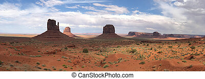 Panoramic view of beautiful Monument Valley