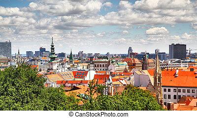 Bratislava - Panoramic view of Bratislava, Slovakia