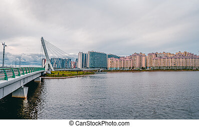 Panoramic view of bridge is named after Akhmad Kadyrov. New ...