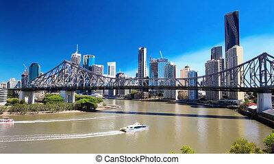 Panoramic view of Brisbane Skyline - BRISBANE, AUS -...