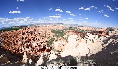 Panoramic view of Bryce Canyon Mountains and Trees