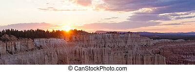 Panoramic view of Bryce canyon national park in Utah