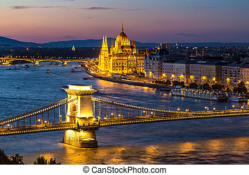 Panoramic view of Budapest