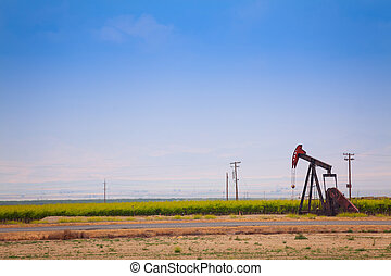 Panoramic view of California and its oil industry