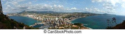 Panoramic view of Calpe