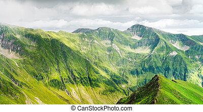 Panoramic view of Carpathian Mountain