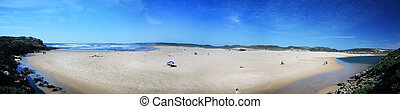 Panoramic view of Carrapateira - Panoramic view of the bay ...