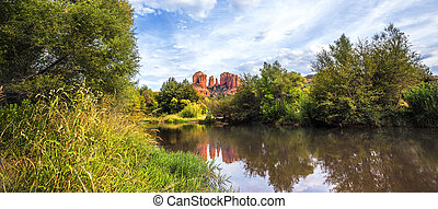 Panoramic view of Cathedral Rock