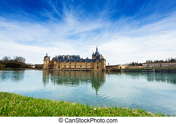 Panoramic view of Chateau de Chantilly, France