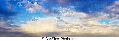 panoramic view of cloud sky