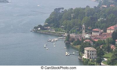Panoramic view of Como lake