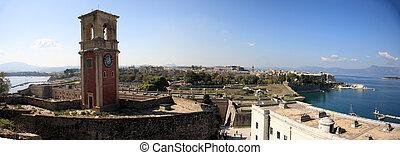 panoramic view of corfu