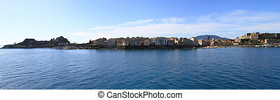 Panoramic view of Corfu (the old town)
