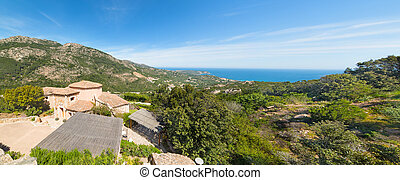 Panoramic view of Costa Smeralda coastline