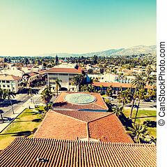 Panoramic view of downtown Santa Barbara