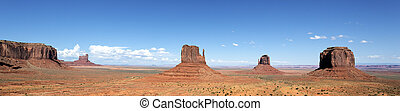 panoramic view of famous Monument Valley