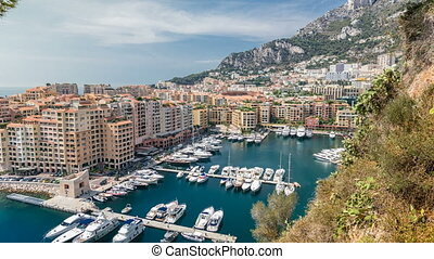 Panoramic view of Fontvieille timelapse - new district of...