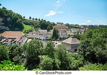 Panoramic view of Fribourg, Switzerland