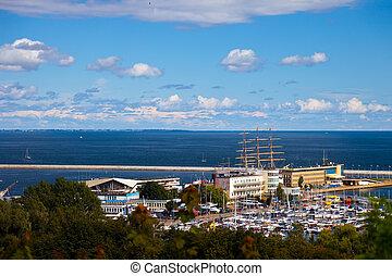 Panoramic view of Gdynia