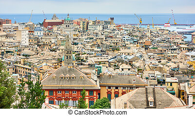 Panoramic view of Genoa