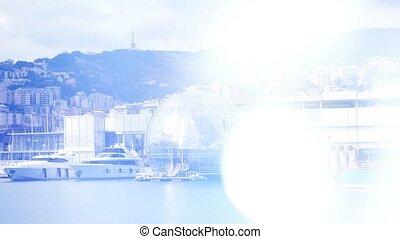 Panoramic view of Genoa, Italy