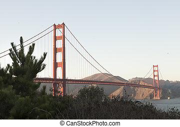 Panoramic view of golden gate bridge san Francisco