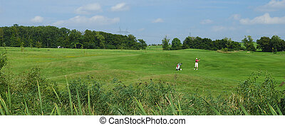 Panoramic view of golf course