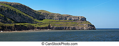 "Panoramic view of Great Orme"" in Llandudno, Wales"