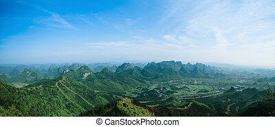 panoramic view of guilin hills