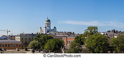 Panoramic view of Helsinki