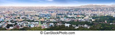 Panoramic view of Hyderabad