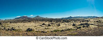 Panoramic view of Icelandic landscape
