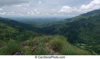 Panoramic view of idyllic mountain scenery in Sri lanka....