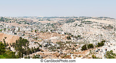 Panoramic view of Jerusalem old city