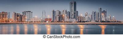 Panoramic view of Juffair and Manama