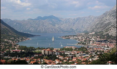 Panoramic view of Kotor, wide